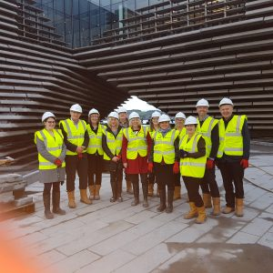 V&A Dundee site visit for DHT Team